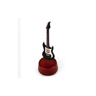 Increíble 18 Nota Miniatura Jet Black Electric Guitar Con Ba