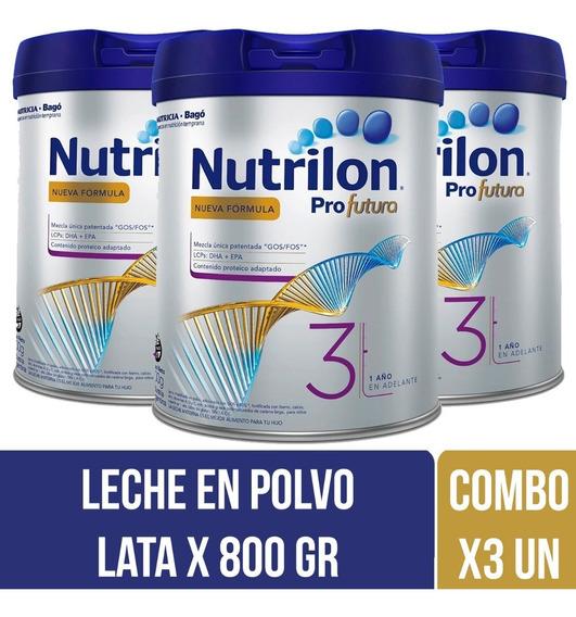 Nutrilon Profutura 3 Leche En Polvo 800 Gr Combo X 3 Latas