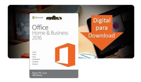 Office Home And Business 2016 Esd Produto Físico.