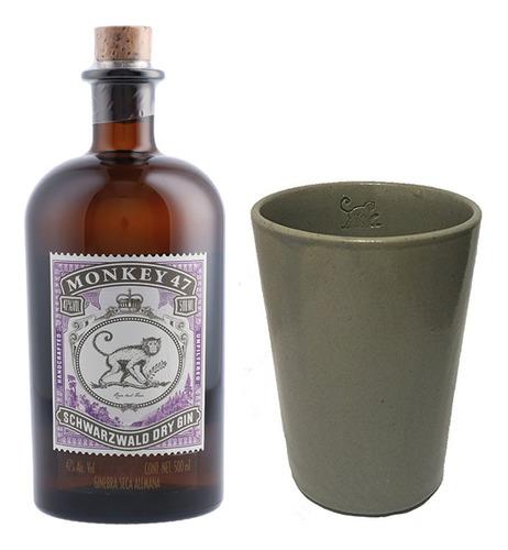 Kit Gin Monkey 47 500ml + Copo Ceramica Monkey 47