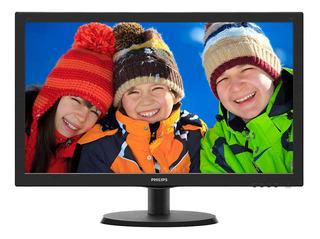 """Monitor Philips 223V5LHSB2 LCD 21.5"""" negro 110V/220V (Bivolt)"""