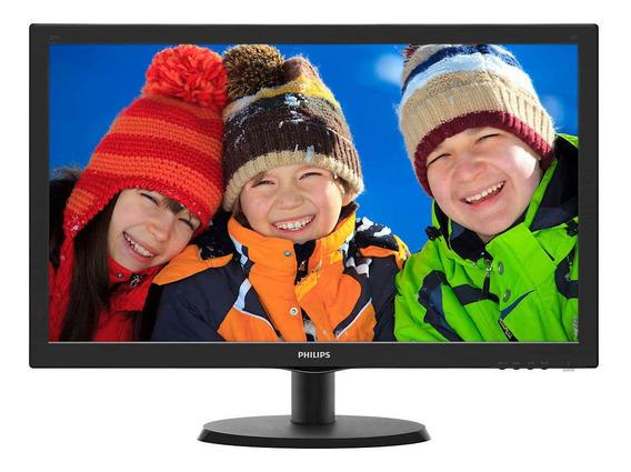 """Monitor Philips V 223V5LHSB2 LCD 21.5"""" preto 100V/240V"""