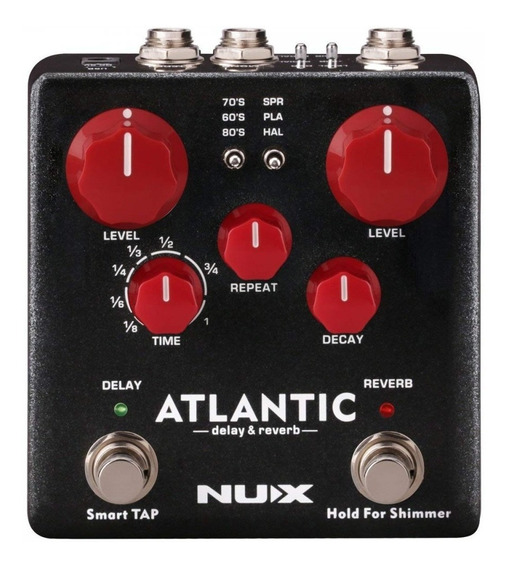 Pedal Delay + Reverb Com Shimmer - Atlantic - Nux