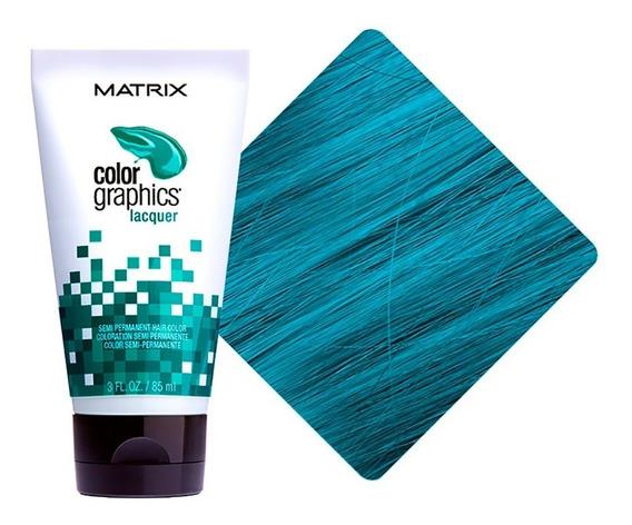Tinte Colorante Color Graphics Hair Semi Turquesa Matrix