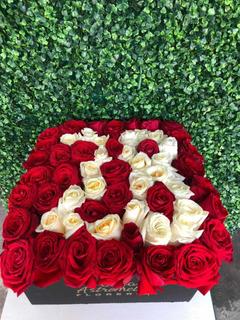 Caja De Rosas Con Número De Rosas
