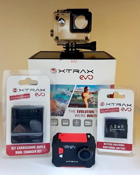 Camera De Ação Xtrax Evo + Carregador + Bateria Extra