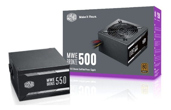Fonte Cooler Master Mwe 500w 80plus Bronze Mpx-5001-acaab-wo