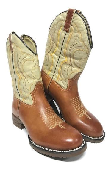 Bota Texana Country Feminina Modelo Jácomo Couro Legítimo