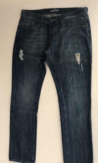 Jeans Gola Talle34 Corte Recto Hombre