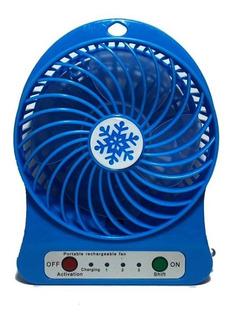 Ventilador Portátil Recargable De 3 Velocidades Y Luz Led
