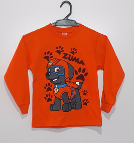 Camiseta Blusa De Frio Infantil Manga Longa Patrulha Canina