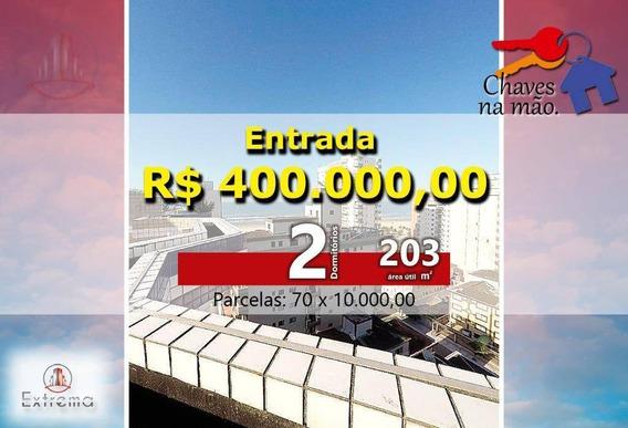 Cobertura Com 3 Dormitórios À Venda, 202 M² Por R$ 1.100.000,00 - Vila Guilhermina - Praia Grande/sp - Co0006