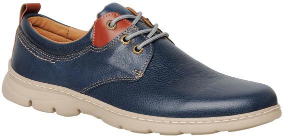 Zapato De Cuero Para Hombre Cosidos Base Ultraliviana 4094