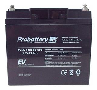 Bateria Probattery 12v 22ah Ciclo Profundo Carro De Golf Gel