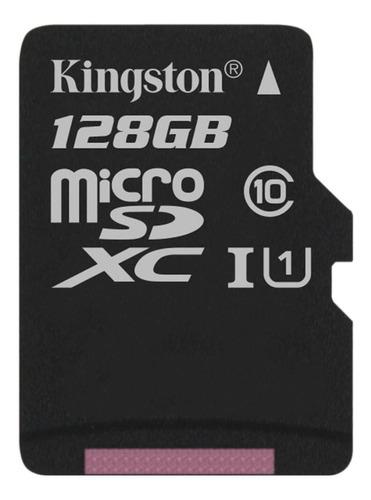 Tarjeta de memoria Kingston SDC10G2 con adaptador SD 128GB