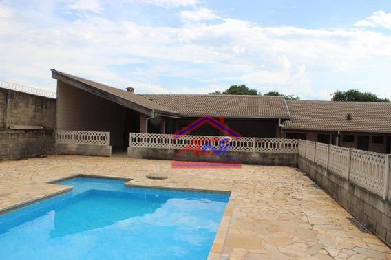 Chácara Com 2 Dormitórios À Venda, 1250 M² Por R$ 540.000 - Chácara Recreio Alvorada - Hortolândia/sp - Ch0004