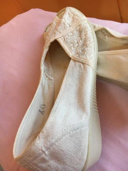 Zapatillas Calzaflex Número 40 Blanco! No Hago Envío