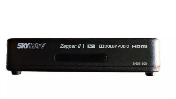 Receptor Sky Pré Pago Hdmi Zapper Sh01-100 + Habilitação .
