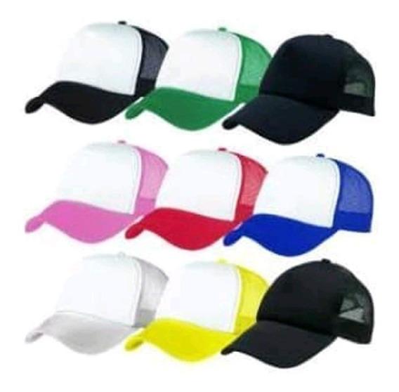 Gorra Camionera Trucker Hat Poliester Negro Gct03-n Original