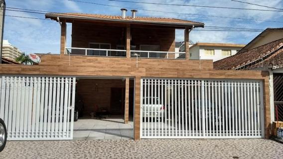Casa Sobreposta Baixa No Lado Praia Com 2 Dormitórios Sendo 1 Suíte À Venda Por R$ 285.000 - Vila Guilhermina - Praia Grande/sp. - So0325