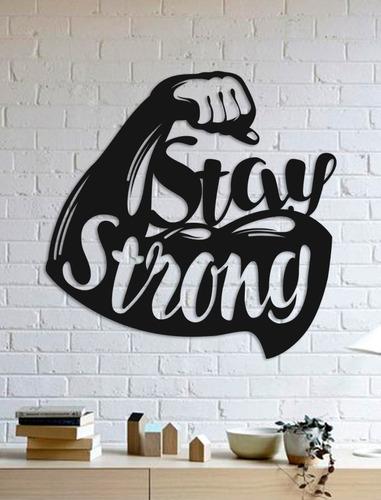 Imagem 1 de 2 de Quadro Decorativo Parede Academia Stay Strong 30cm