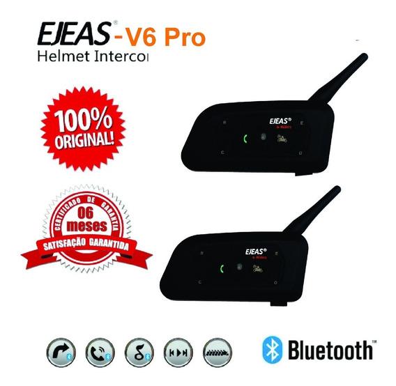 Novo Intercomunicador Capacete V6 Pro 1200 Ejeas (o Par)