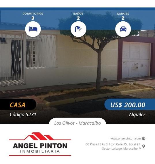 Casa Alquiler Los Olivos Maracaibo Api 5231 Estefany P.