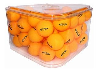 Pote C/ 36 Bolas Tenis Mesa Ping Pong Klopf Branca / Laranja