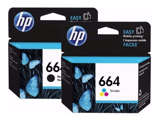Pack Original De Tinta Negra Y Color Hp 664 Advantage