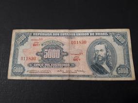 Cedula De 5000 Cruzeiros Tiradendes, Primeira Estampa.