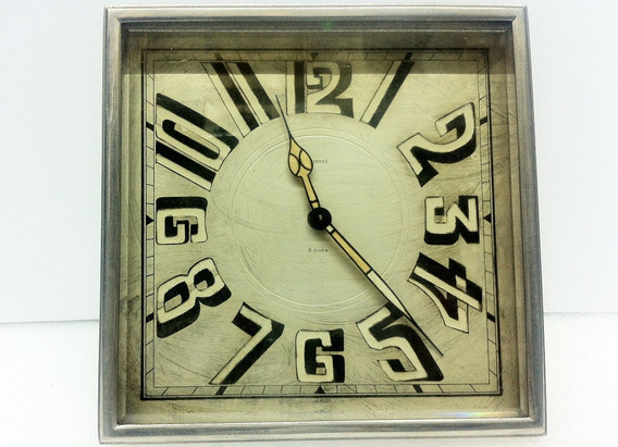 Antiguo Y Hermoso Reloj Francés Tonnel De Cuerda Funciona