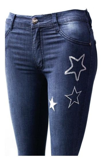 Nahana Jean Chupin Elastizado Con Estrellas. Pantalón Mujer
