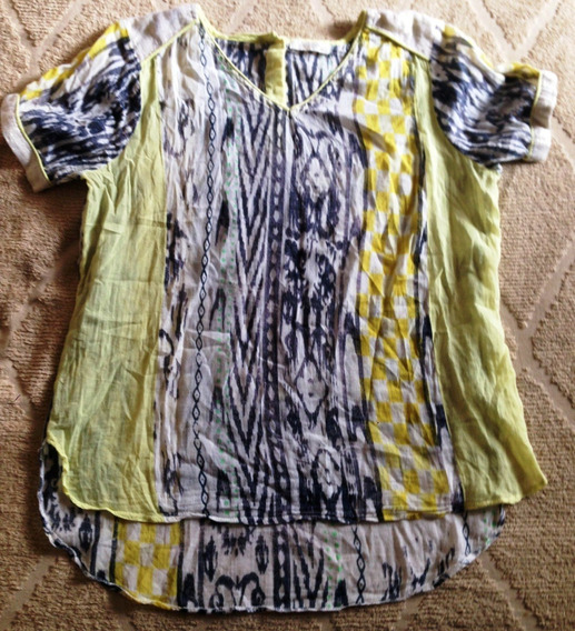 Blusa India Style Amarilla 42 Original Hermosa!!!!!!!!
