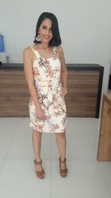 Roupas Feminina Vestido De Festa Estampado Cinto Ajustavel