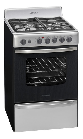 Cocina A Gas Longvie 19501x 56cm Inox Encendido Una Mano