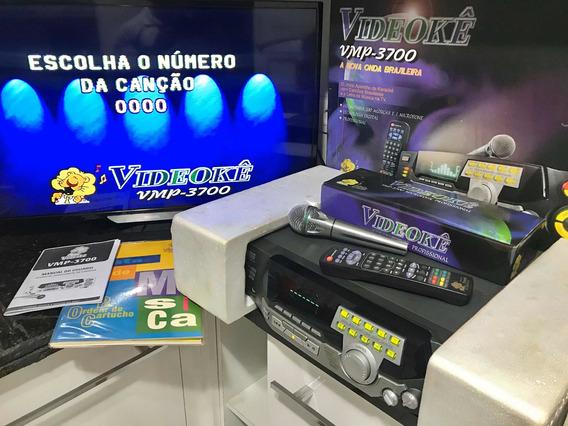 Videoke Raf 3700 Completo Na Caixa C/200 Musicas Raridade!