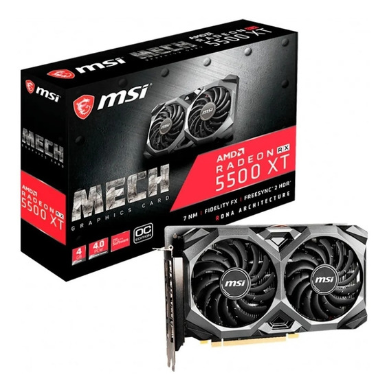 Placa De Vídeo Msi Radeon Rx 5500 Xt 4gb Mech Ddr6 Megasoft