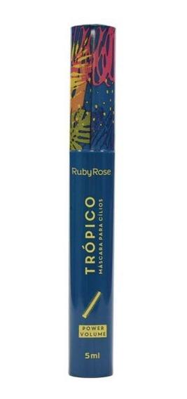 Máscara para cílios Ruby Rose Trópico Power Volume 5ml cor Preto 1 unidade