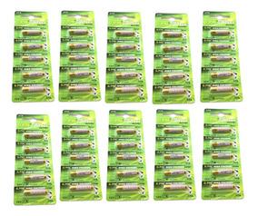 10 Cartelas Bateria Pilha 27a 12v Alarme Portão 50 Unidades