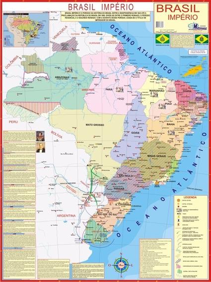 Mapa Gigante Brasil Império - Estudo De Geografia E História