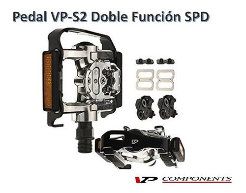 Pedal Doble Función Vp-s2 Calas Spd Bicicleta Mtb Spinning