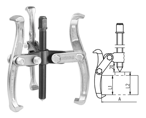 Extractor Total Tools/3 Patas/ 3 /3000 Kg