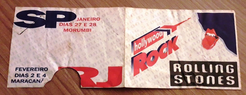Ingresso Hollywood Rock - Rolling Stones 1995