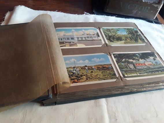 Antiguo Álbum De Postales 192 Decada Del 40.