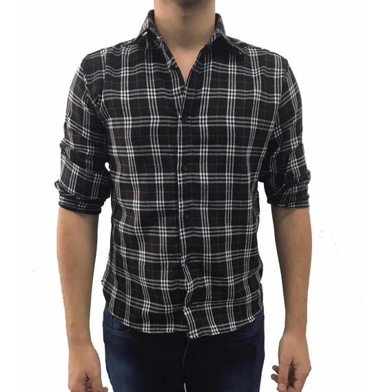 Camisa Masculina Lenhador Flanela Xadrez Tecido Grosso Moda