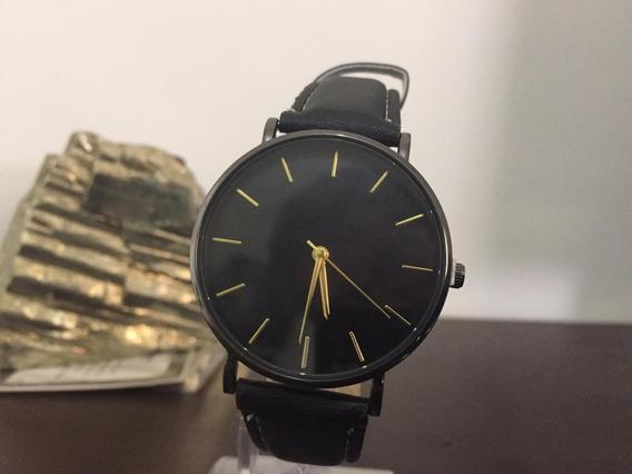 Relógio Masculino Pulso Classico Luxo Pulseira Couro C3165
