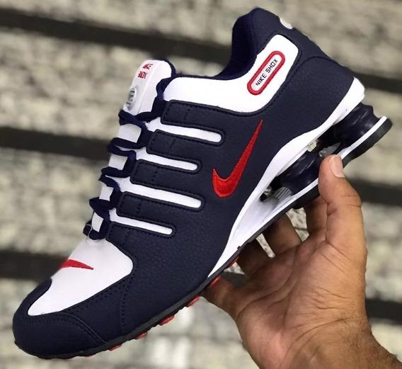 Tenis Nike Shox Nz 4 Molas Eu. Promoção 12 Vezes Sem Juros!