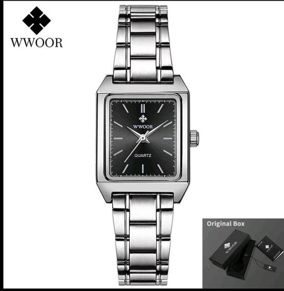 Relógio Wwoor Feminino 30.5mm Pequeno A Prova D Água (origin