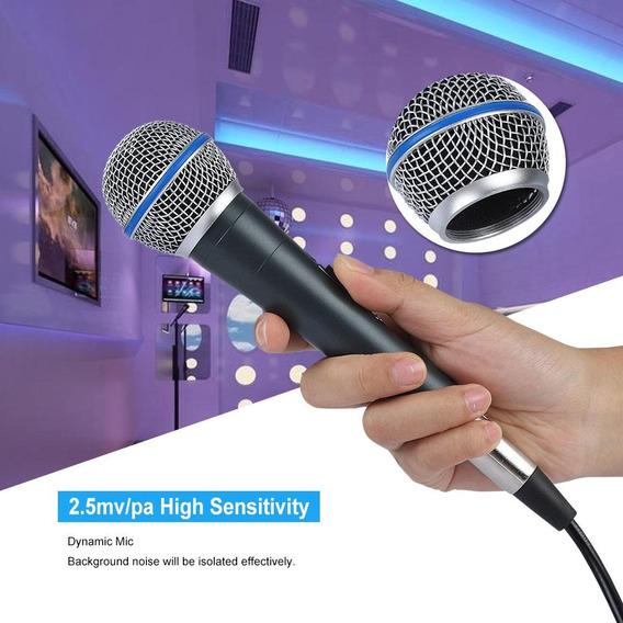 Microfone Dinâmico De 2.5db Spl 6.5mm Tomada Ktv Do Microfo
