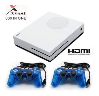 Consola Retro X Game 600 En 1 + 2 Controles Usb   Maxtech